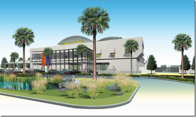 This rendering from Clemson University's Restoration Institute shows plans for one side of the drivetrain testing facility. (Clemson University image)