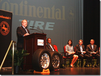 Commerce Secretary Bobby Hitt speaks during the announcement about Continental Tire's plans to open a manufacturing plant in Sumter County. (Photo/Jim Hammond)