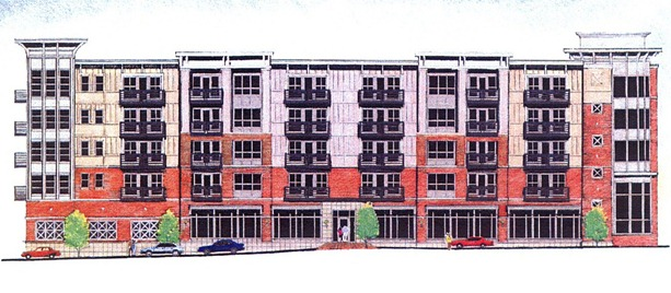 Lat Purser & Associates submitted an application to the city of Greenville's Planning and Zoning Department to build a new residential apartment complex in the West End. (Image/Lat Purser & Associates Inc.)