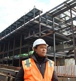 Chicago native Lekita Hargrave is responsible for keeping construction of the new home for the Darla Moore School of Business on time and under budget.
