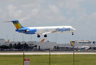 Allegiant Air is considering international services at Greenville-Spartanburg International Airport. (Ivan Cholakov / Shutterstock.com)