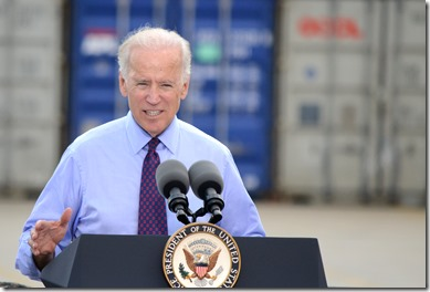 Vice President Joe Biden said during a September visit to the Port of Charleston that the Charleston Harbor deepening is a crucial project for the country. (Photo/Liz Segrist)