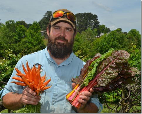Chad Bishop, co-owner of Greenbrier Farms, said increased regulation will force farmers to incorporate technology to track production. (Photo by Bill Poovey)