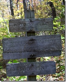 Distances along the Appalachian Trail, Blood Mountain. (Photo by William Silver via Shutterstock)