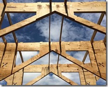 A student design team explores an alternative truss system for vaulted ceilings. (Photo provided)