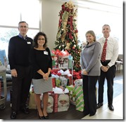 George Roberts (from left), East Cooper Meals on Wheels president; Tracy Hunter, East Cooper Medical Center HR director; Jenny Hanzel, East Cooper Medical Center; Jason Alexander, CEO of East Cooper Medical Center.