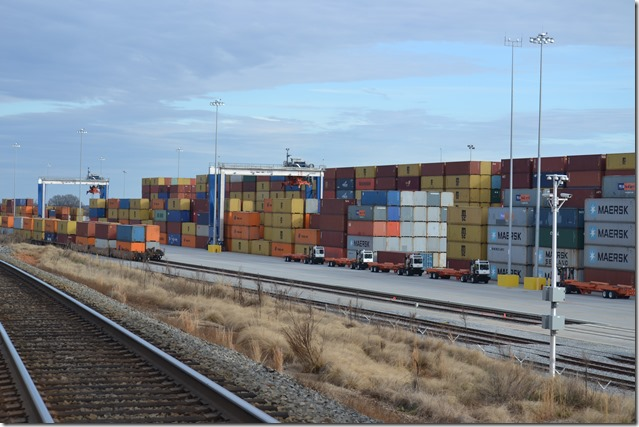 Inland port records 42,555 container moves in 1st year