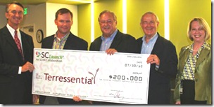 Terressentia gets big boost from big check