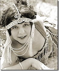 Vintage photo of a flapper.